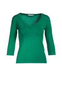 Zielona bluzka z długim rękawem Born2be