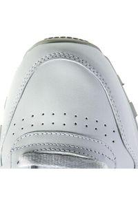 Buty Reebok - Cl Lthr 2214 White/Light Grey. Kolor: biały. Materiał: skóra. Szerokość cholewki: normalna. Styl: retro #6