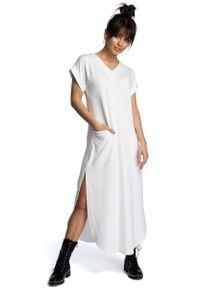 Sukienka dzianinowa MOE maxi, wizytowa