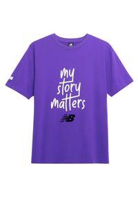 T-shirt New Balance krótki, z krótkim rękawem, sportowy