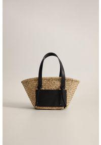 Czarna torba plażowa mango na ramię