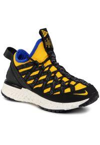 Żółte buty sportowe Nike na co dzień, z cholewką