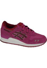 Różowe buty sportowe Asics lifestyle Asics Gel Lyte, z cholewką