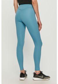 Niebieskie legginsy Nike gładkie, z podwyższonym stanem