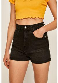 TALLY WEIJL - Tally Weijl - Szorty jeansowe. Okazja: na co dzień. Stan: podwyższony. Kolor: czarny. Materiał: jeans. Styl: casual