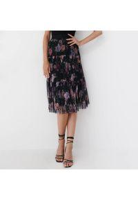 Mohito - Plisowana spódnica midi - Czarny. Kolor: czarny