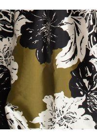 DICE KAYEK - Sukienka w kwiaty. Kolor: czarny. Materiał: tkanina, materiał. Wzór: kwiaty. Typ sukienki: rozkloszowane. Styl: elegancki