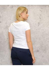 CRISTINAEFFE - T-shirt z nadrukiem. Kolor: biały. Wzór: nadruk. Styl: klasyczny, wakacyjny