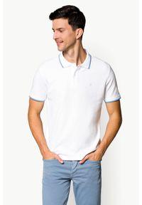 Biała koszulka polo Lancerto klasyczna, polo, z krótkim rękawem