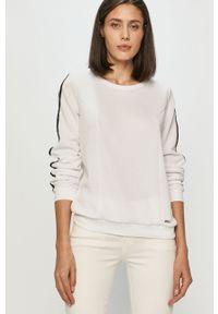 Biała bluza Liu Jo gładkie, długa, casualowa
