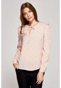 Różowa bluzka Nife z falbankami