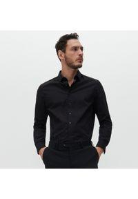 Reserved - Koszula slim fit z bawełny organicznej - Czarny. Kolor: czarny. Materiał: bawełna