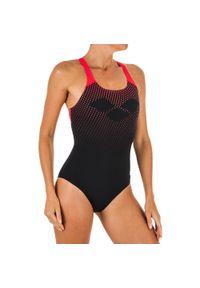 Strój Pływacki Jednoczęściowy Damski Arena Swim Pro Back. Kolor: wielokolorowy, czerwony, czarny. Materiał: materiał, poliester