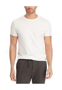 Biały t-shirt Ralph Lauren polo, z haftami, sportowy
