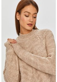 Beżowy sweter Answear Lab z długim rękawem, długi