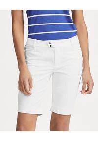 Ralph Lauren - RALPH LAUREN - Białe spodenki. Kolor: biały. Materiał: satyna, poliester. Styl: wakacyjny, sportowy, klasyczny, elegancki