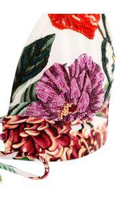 AGUA BENDITA - Top od bikini Mia Blare. Kolor: czerwony. Wzór: kwiaty, paski, aplikacja