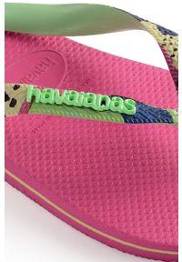 Różowe japonki Havaianas bez obcasa