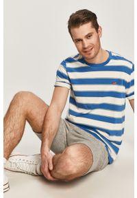 Levi's® - Levi's - T-shirt. Okazja: na co dzień, na spotkanie biznesowe. Kolor: niebieski. Materiał: dzianina. Styl: biznesowy, casual