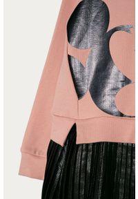 Różowa sukienka OVS casualowa, z nadrukiem, na co dzień, prosta