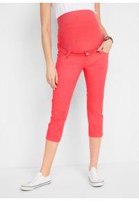 Czerwone jeansy bonprix moda ciążowa