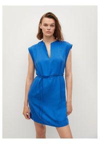 mango - Mango Sukienka codzienna Sonder 87088636 Niebieski Regular Fit. Okazja: na co dzień. Kolor: niebieski. Typ sukienki: proste. Styl: casual