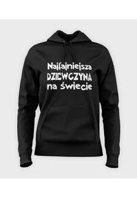 MegaKoszulki - Bluza damska z kapturem Najfajniejsza dziewczyna na świecie. Typ kołnierza: kaptur