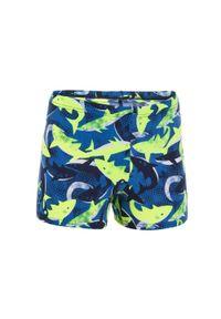 NABAIJI - Bokserki Pływackie Fitib All Shark Dla Dzieci. Kolor: niebieski, żółty, wielokolorowy. Materiał: poliamid, materiał, poliester