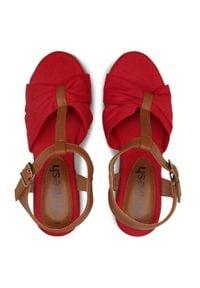 Refresh - Espadryle REFRESH - 72878 Rojo. Okazja: na spacer, na co dzień. Kolor: czerwony. Materiał: skóra ekologiczna, skóra, materiał. Sezon: lato. Styl: casual