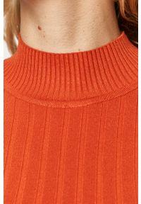 Pomarańczowy sweter TALLY WEIJL długi, z długim rękawem