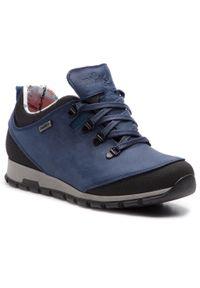 Niebieskie buty trekkingowe Nik z cholewką