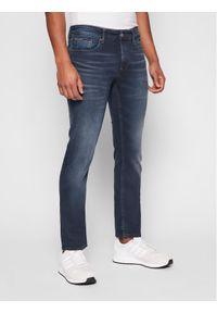 Tommy Jeans Jeansy Scanton DM0DM09852 Granatowy Slim Fit. Kolor: niebieski