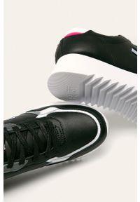 Czarne buty sportowe Tommy Jeans na sznurówki, z okrągłym noskiem