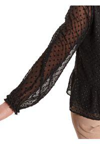 TOP SECRET - Bluzka z tkaniny plumeti z baskinką. Okazja: do pracy, na imprezę. Kolor: czarny. Materiał: tkanina. Długość: długie. Sezon: wiosna. Styl: elegancki #6