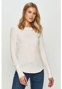 Biała bluzka z długim rękawem GAP na co dzień, casualowa