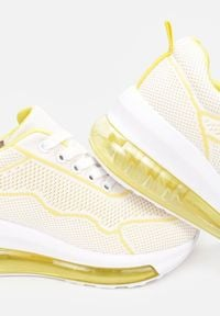Renee - Żółte Sneakersy Clymenti. Kolor: żółty. Materiał: materiał