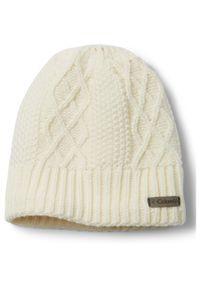 Biała czapka columbia na zimę