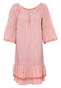 Sukienka bonprix jasnoróżowy. Kolor: różowy