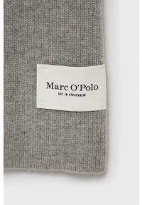 Marc O'Polo - Szalik wełniany. Kolor: szary. Materiał: wełna
