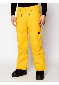 Żółte spodnie sportowe O'Neill narciarskie
