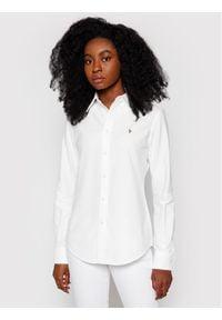 Polo Ralph Lauren Koszula Washed Oxford 211743355 Biały Slim Fit. Typ kołnierza: polo. Kolor: biały