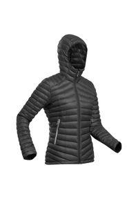 FORCLAZ - Kurtka trekkingowa puchowa - komfort -5°C - TREK 100 - damska. Kolor: czarny. Materiał: puch