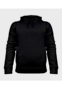 Czarna bluza MegaKoszulki z kapturem, gładkie