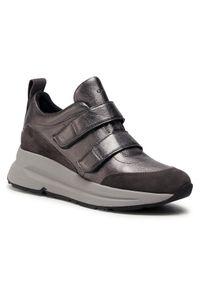 Srebrne buty sportowe Geox