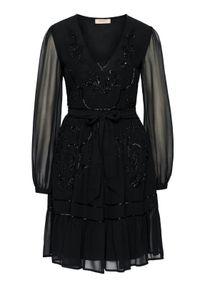 TwinSet Sukienka koktajlowa 202TP235B Czarny Regular Fit. Kolor: czarny. Styl: wizytowy