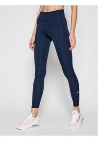 Nike Legginsy One DD0252 Granatowy Slim Fit. Kolor: niebieski
