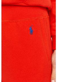 Czerwone spodnie dresowe Polo Ralph Lauren gładkie #4