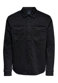 Only & Sons - ONLY & SONS Koszula Billy 22018181 Czarny Regular Fit. Kolor: czarny