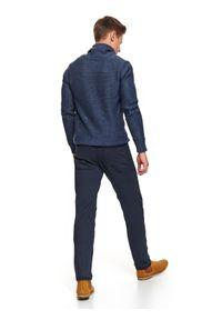 Niebieski sweter TOP SECRET na jesień, elegancki