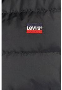 Czarna kurtka Levi's® na co dzień, biznesowa, z kapturem